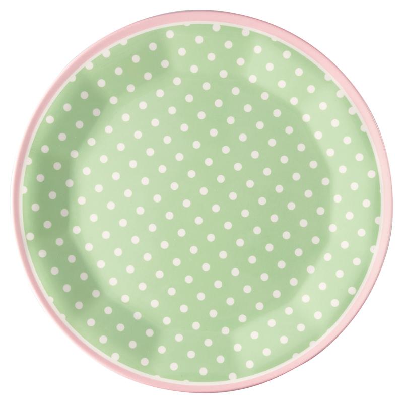 a13384x.jpg - Plate Spot, Pale green - Elsashem Butiken med det lilla extra...