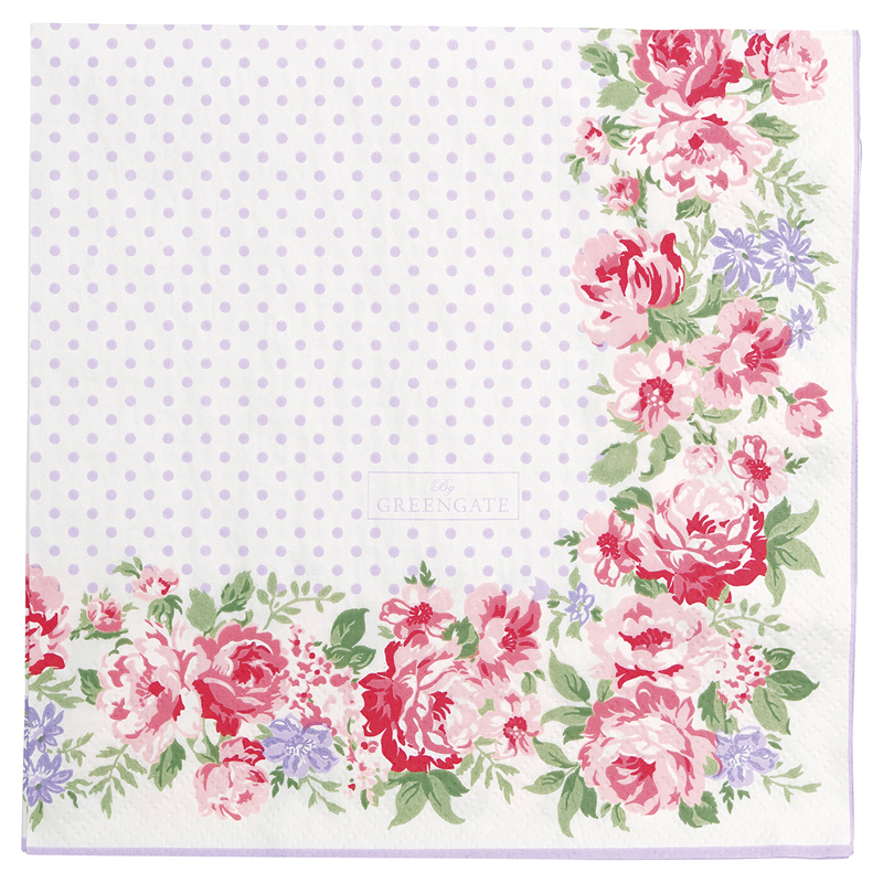 a13390x.jpg - Servetter Rose, White - Elsashem Butiken med det lilla extra...