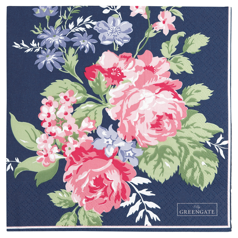 a13391x.jpg - Servetter Rose, Dark blue - Elsashem Butiken med det lilla extra...