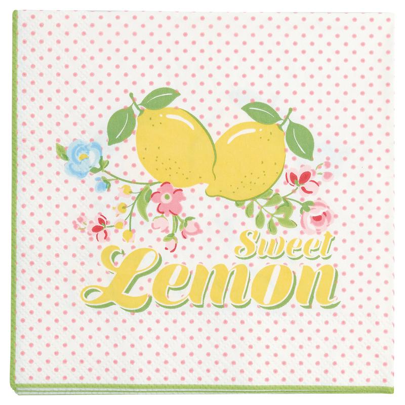a13395x.jpg - Servetter Limona, White small - Elsashem Butiken med det lilla extra...