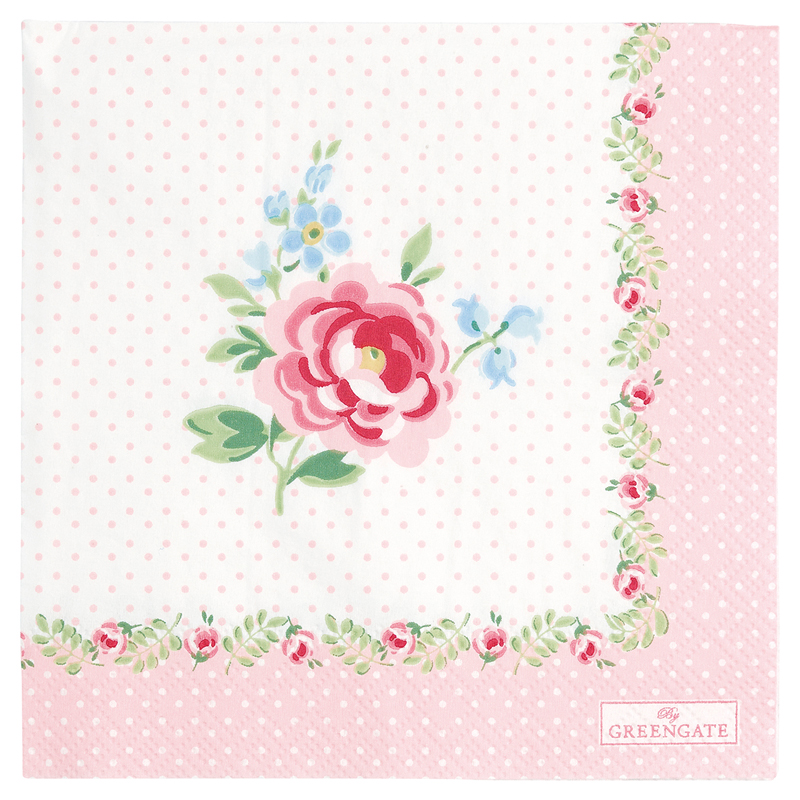 a13396x.jpg - Servetter Lily, Petit white small - Elsashem Butiken med det lilla extra...