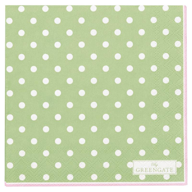 a13399x.jpg - Servetter Spot, Pale green small - Elsashem Butiken med det lilla extra...
