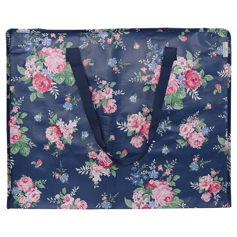 a13407x.jpg - Storage bag Rose, Dark blue large - Elsashem Butiken med det lilla extra...
