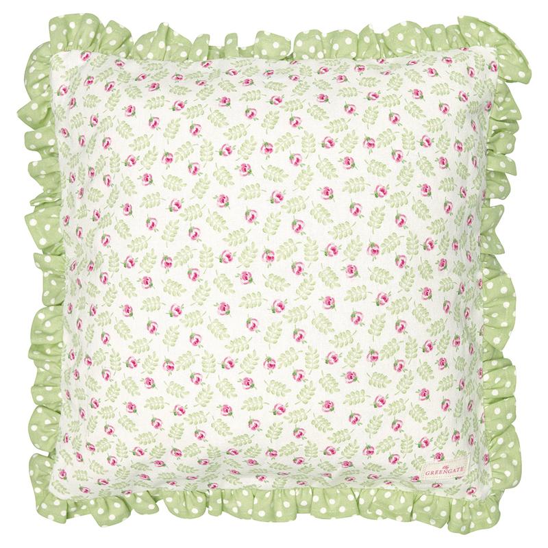 a13473x.jpg - Kuddfodral Lily, Petit white w/frill - Elsashem Butiken med det lilla extra...