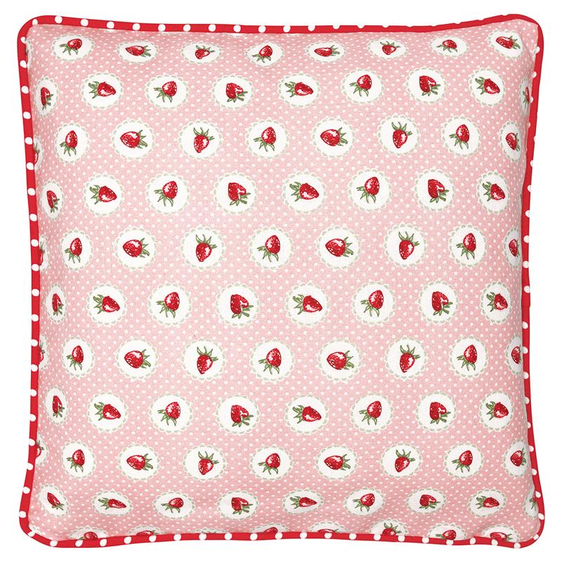 a13476x.jpg - Kuddfodral Strawberry, Pale pink - Elsashem Butiken med det lilla extra...