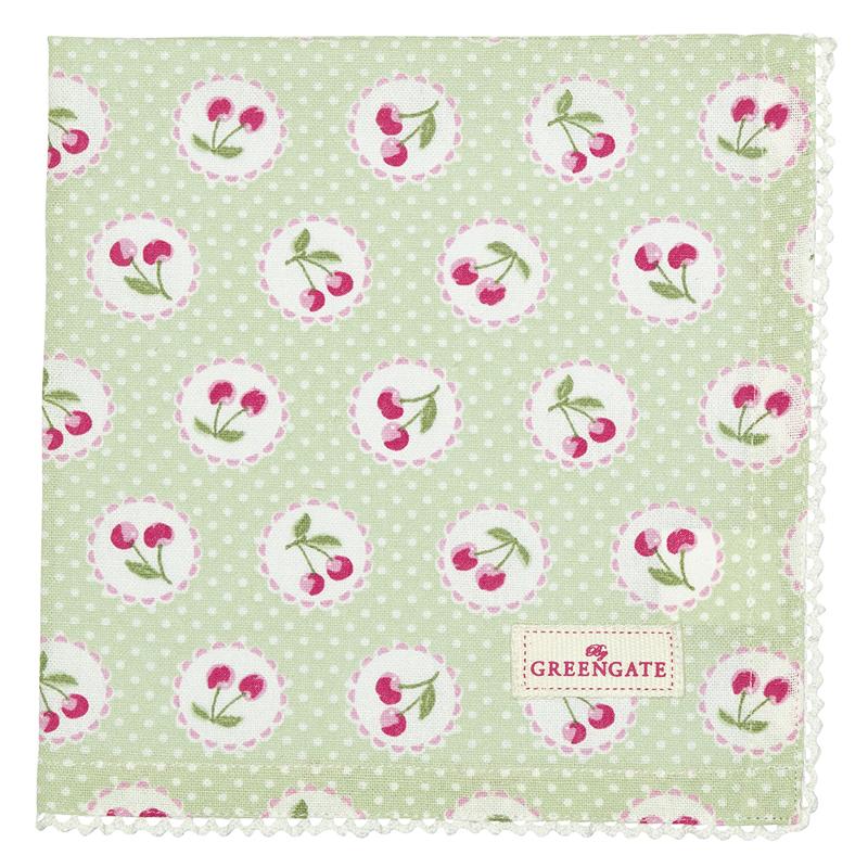 a13492x.jpg - Servett Cherry berry, Pale green - Elsashem Butiken med det lilla extra...