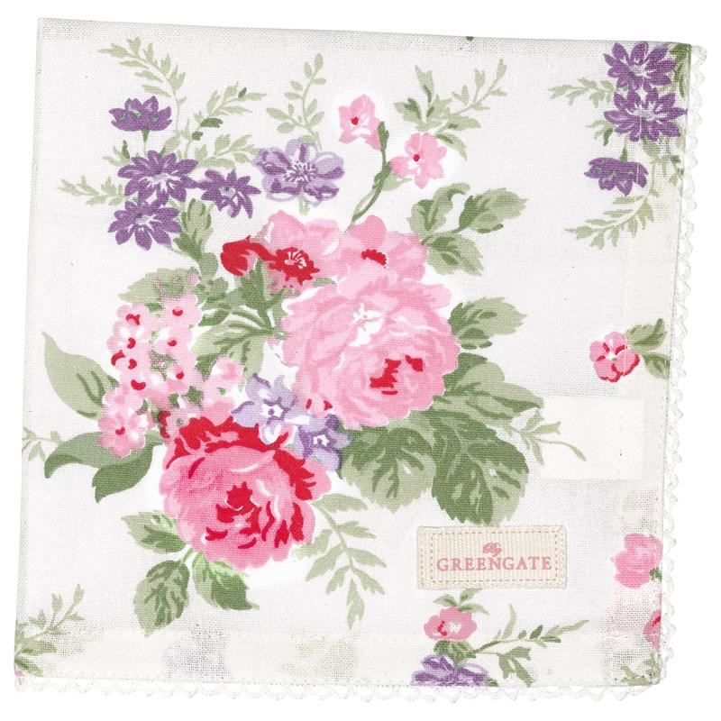 a13501x.jpg - Servett Rose, White - Elsashem Butiken med det lilla extra...