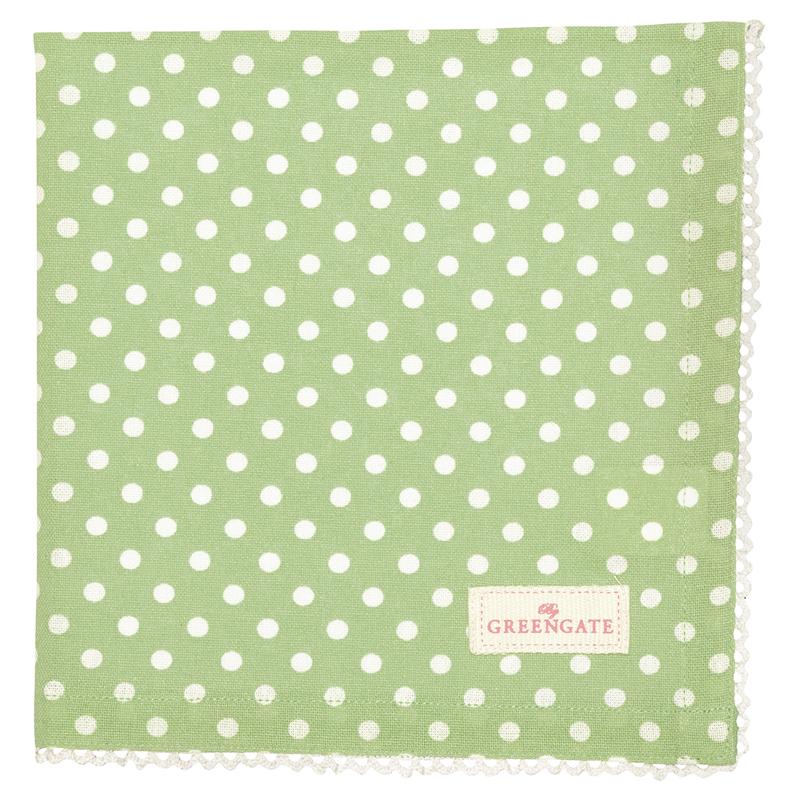 a13505x.jpg - Servett Spot, Pale green - Elsashem Butiken med det lilla extra...