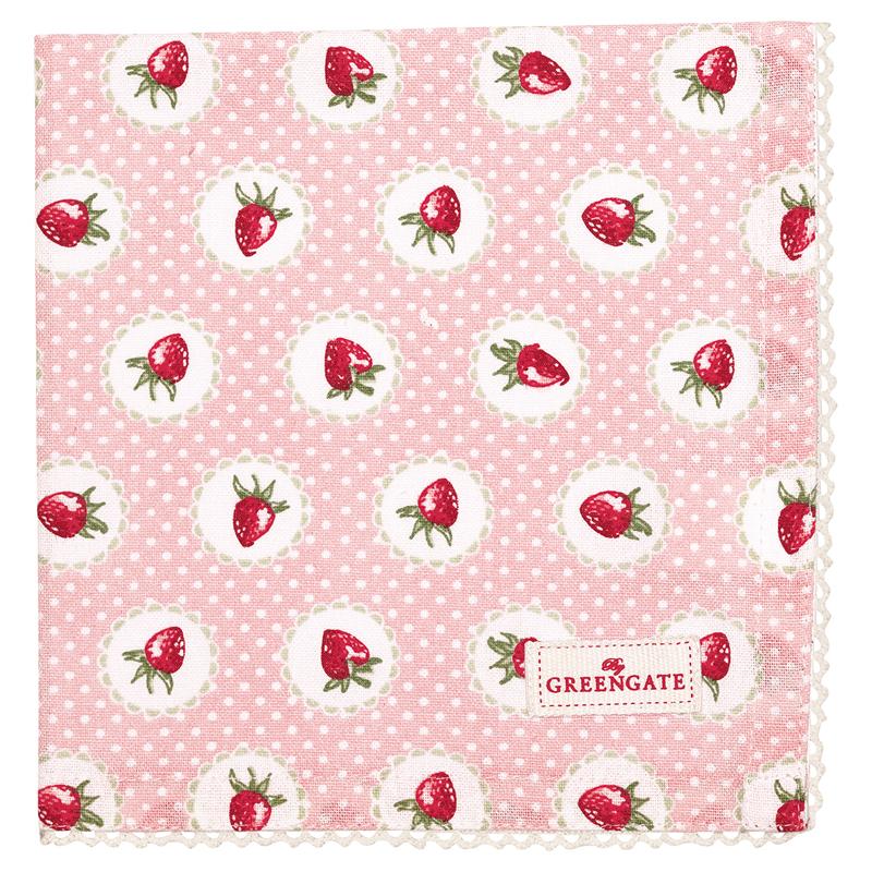 a13507x.jpg - Servett Strawberry, Pale pink - Elsashem Butiken med det lilla extra...