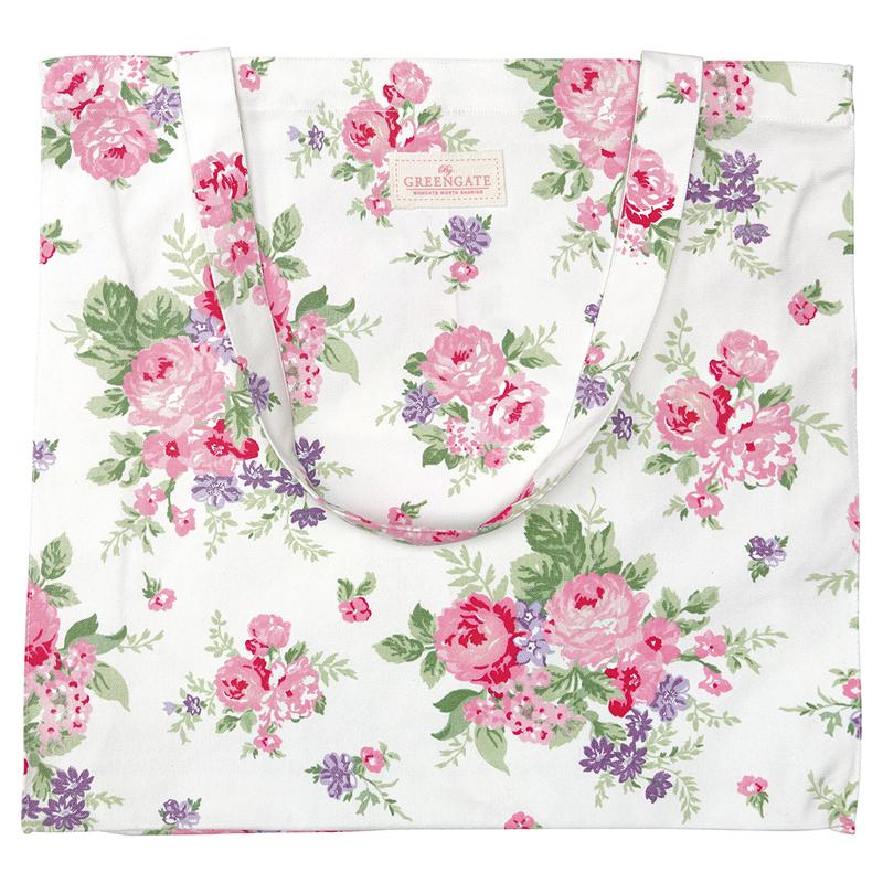 a13517x.jpg - Cotton shopper Rose, White - Elsashem Butiken med det lilla extra...