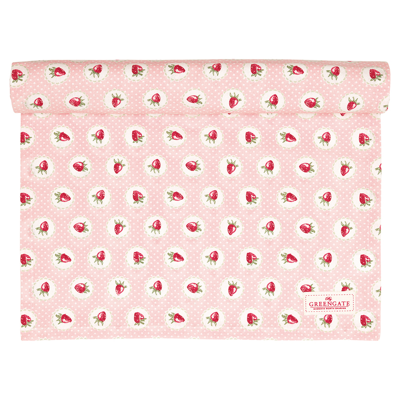 a13533x.jpg - Table runner Strawberry, Pale pink - Elsashem Butiken med det lilla extra...