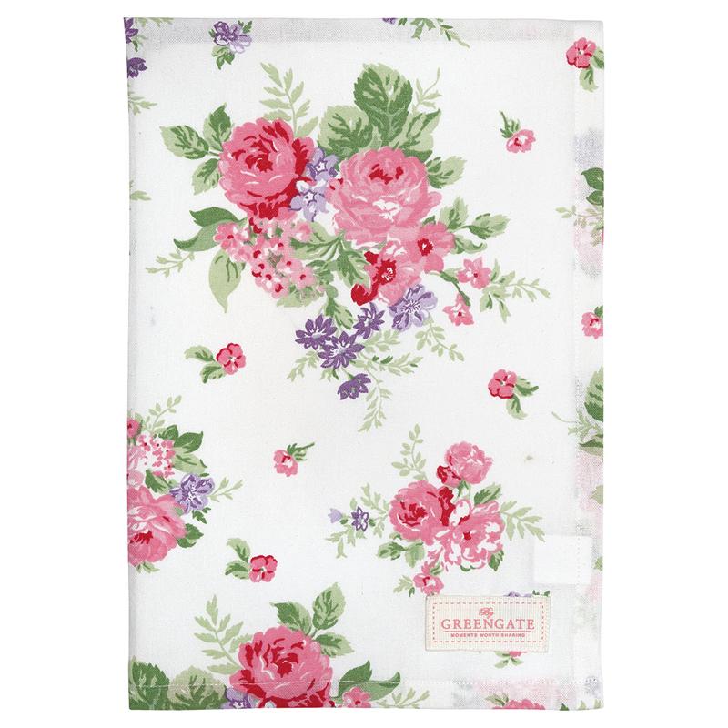 a13549x.jpg - Kökshandduk Rose, White - Elsashem Butiken med det lilla extra...
