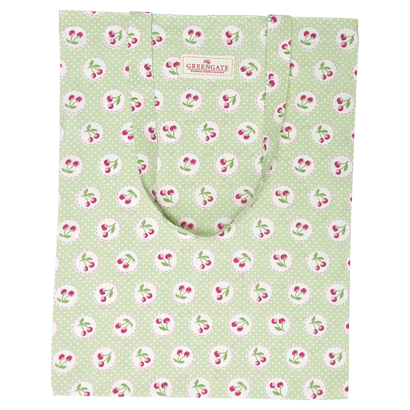 a13562x.jpg - Bag cotton Cherry berry, Pale green - Elsashem Butiken med det lilla extra...