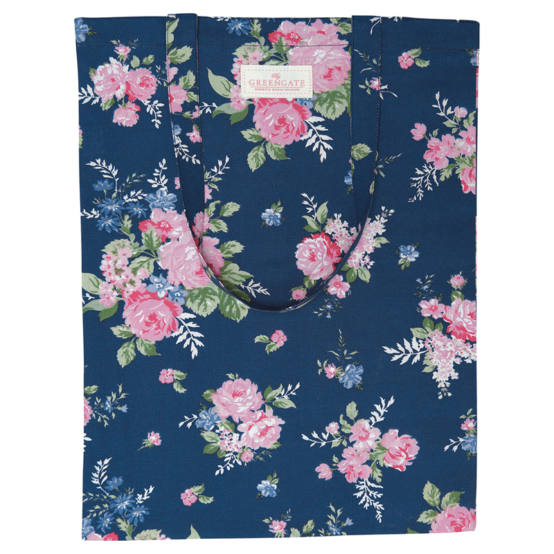 a13566x.jpg - Bag cotton Rose, Dark blue - Elsashem Butiken med det lilla extra...