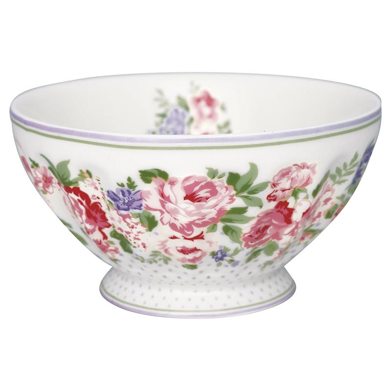 a13585x.jpg - Skål Rose, White XL - Elsashem Butiken med det lilla extra...