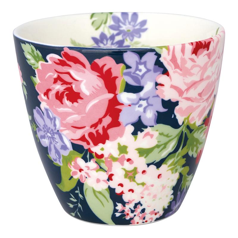 a13601x.jpg - Lattemugg Rose, Dark blue - Elsashem Butiken med det lilla extra...