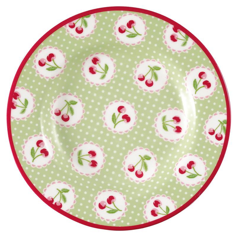 a13610x.jpg - Liten assiett Cherry berry, Pale green - Elsashem Butiken med det lilla extra...