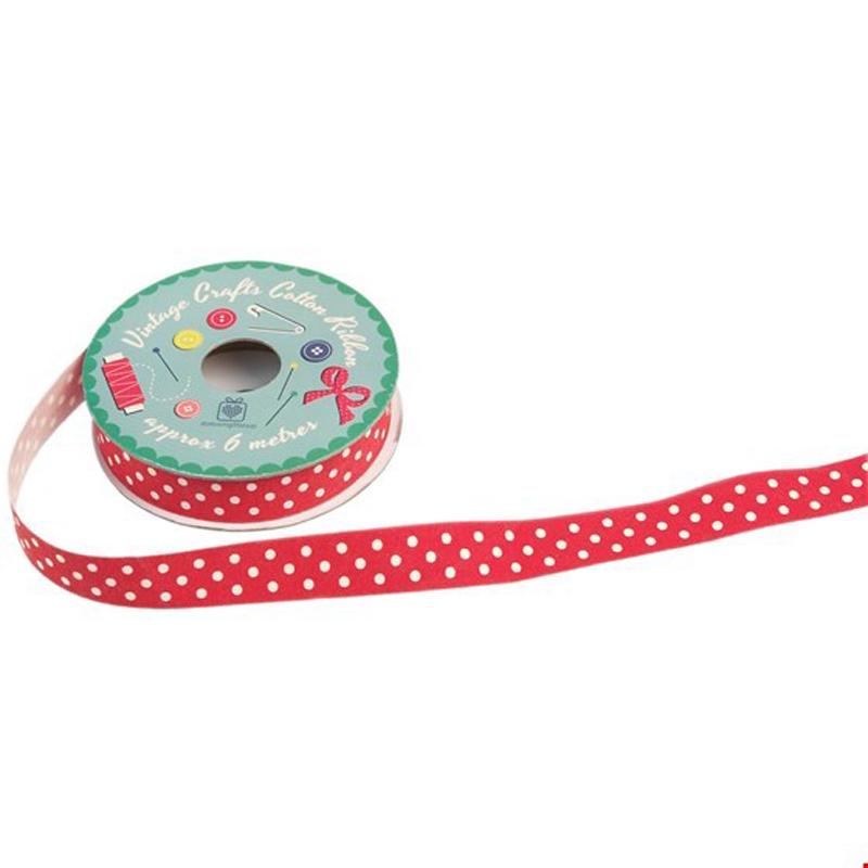 a13633x.jpg - Rulle med band, Prickig röd - Elsashem Butiken med det lilla extra...