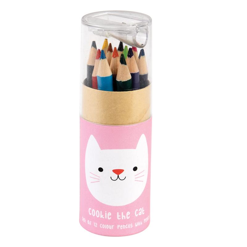 a13663x.jpg - Färgpennor i tub, Cookie the Cat - Elsashem Butiken med det lilla extra...