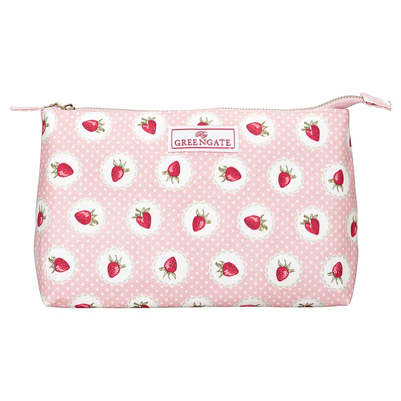 a13714x.jpg - Stor sminkväska Strawberry, Pale pink - Elsashem Butiken med det lilla extra...
