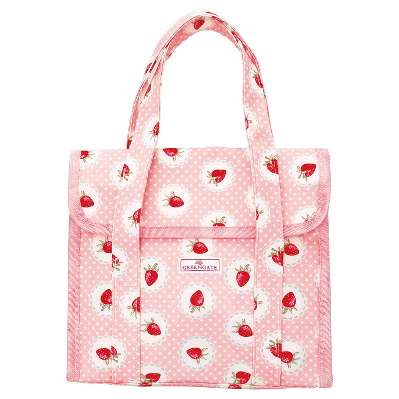 a13722x.jpg - Liten lunchväska Strawberry, Pale pink - Elsashem Butiken med det lilla extra...