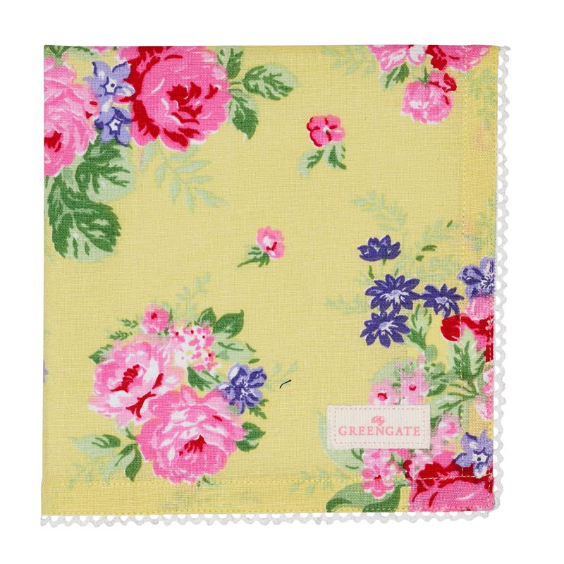 a13733x.jpg - Servett Rose, Pale yellow - Elsashem Butiken med det lilla extra...