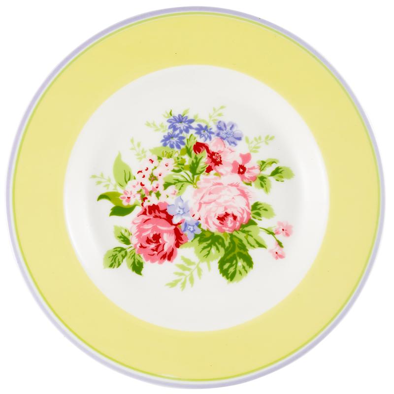 a13737x.jpg - Liten assiett Rose, Pale yellow - Elsashem Butiken med det lilla extra...