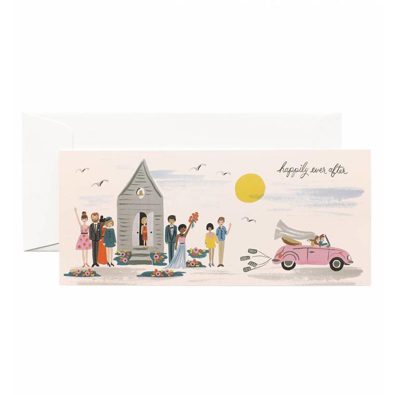 a13742x.jpg - Kort med kuvert, Wedding Send-Off Card - Elsashem Butiken med det lilla extra...