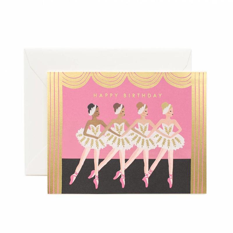 a13743x.jpg - Kort med kuvert, Birthday Ballet Card - Elsashem Butiken med det lilla extra...