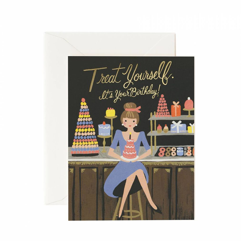 a13744x.jpg - Kort med kuvert, Treat Yourself Birthday Card - Elsashem Butiken med det lilla extra...