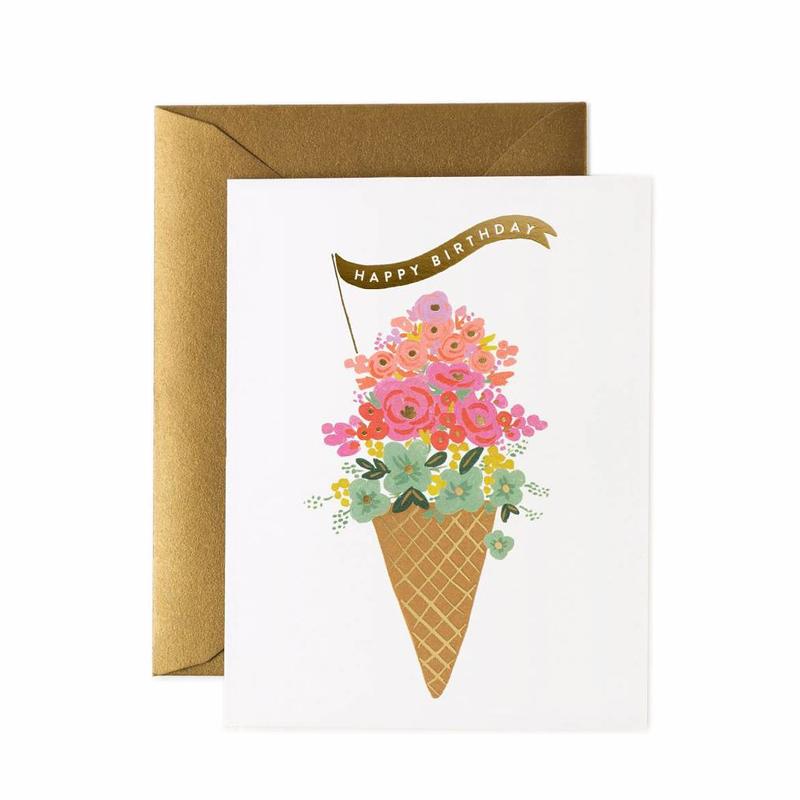 a13745x.jpg - Kort med kuvert, Ice Cream Birthday Card - Elsashem Butiken med det lilla extra...
