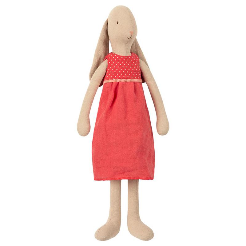 a13792x.jpg - Bunny size 3, Flower dress - Red - Elsashem Butiken med det lilla extra...