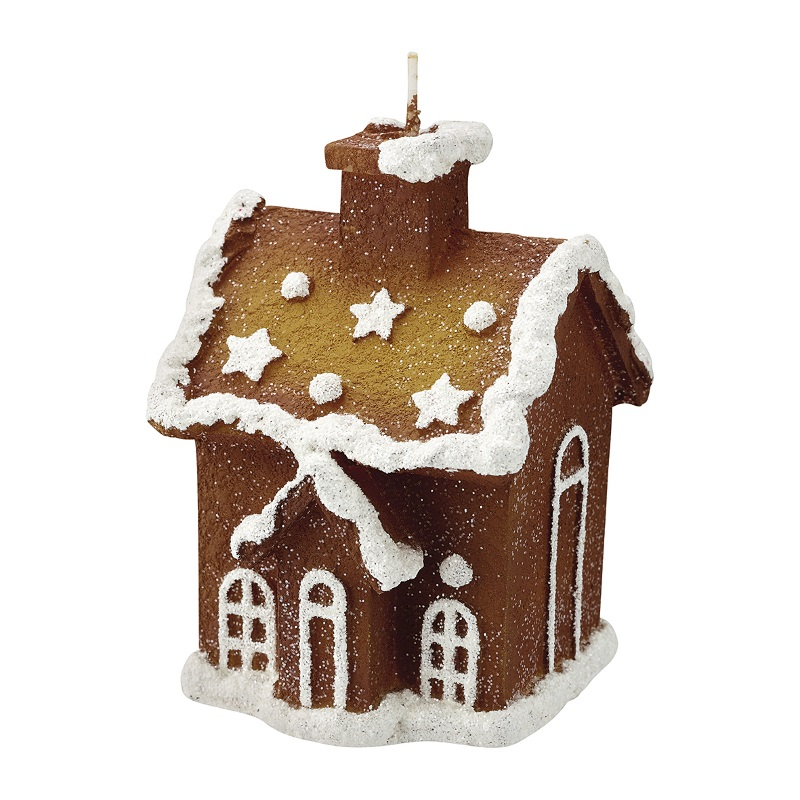 a13837x.jpg - Candle Gingerbread house, Creme - Elsashem Butiken med det lilla extra...