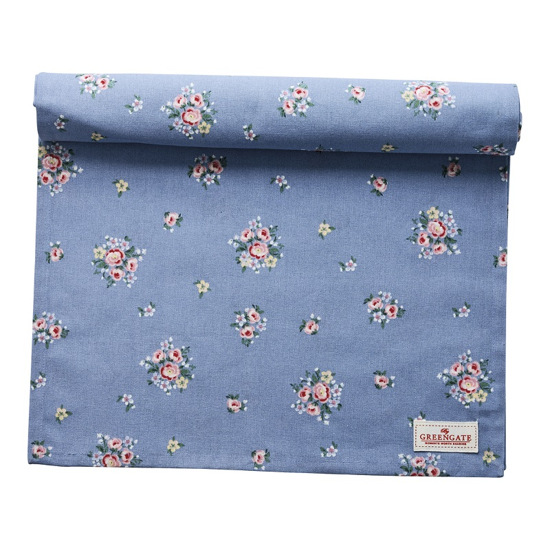 a13922x.jpg - Table runner Nicoline, Dusty blue - Elsashem Butiken med det lilla extra...