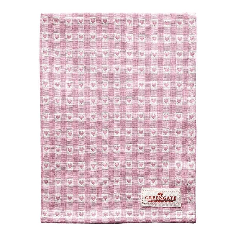 a13931x.jpg - Kökshandduk Heart petit, Pale pink - Elsashem Butiken med det lilla extra...