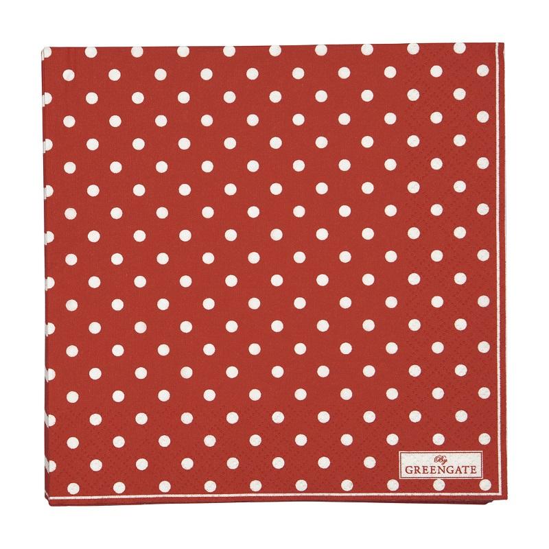 a13951x.jpg - Servetter Spot, Red - Elsashem Butiken med det lilla extra...