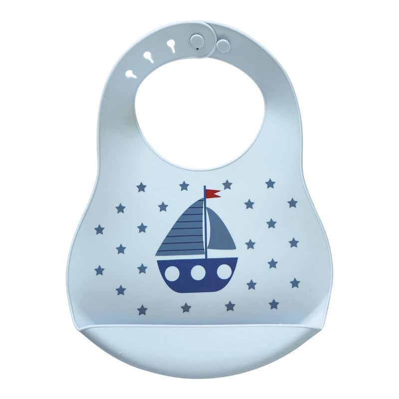 a14004x.jpg - Baby bib Noah, Blue - Elsashem Butiken med det lilla extra...