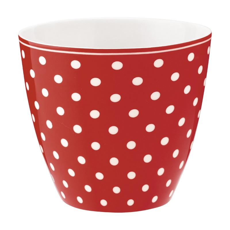 a14052x.jpg - Lattemugg Spot, Red - Elsashem Butiken med det lilla extra...