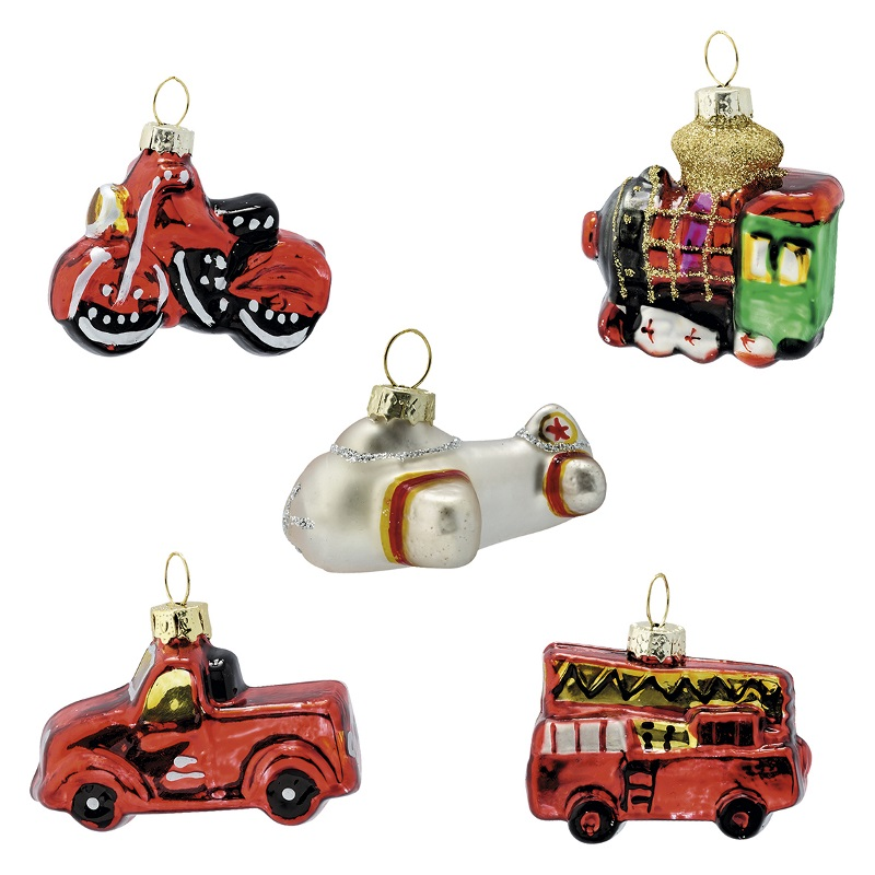 a14109x.jpg - Julgranskula Christmas car, Red set of 5 - Elsashem Butiken med det lilla extra...