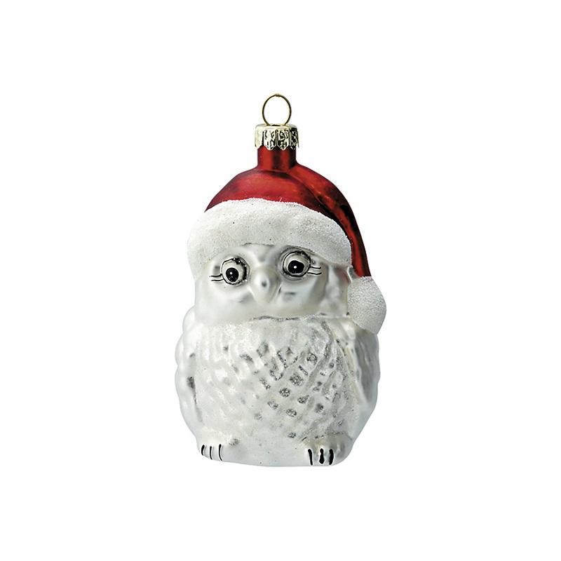 a14113x.jpg - Julgranskula Owl, White - Elsashem Butiken med det lilla extra...