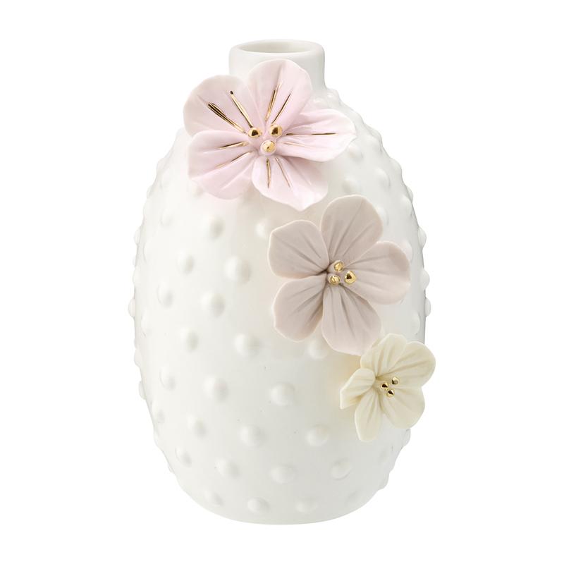 a14116x.jpg - Vase Anemone, Dusty Cream w/gold large - Elsashem Butiken med det lilla extra...