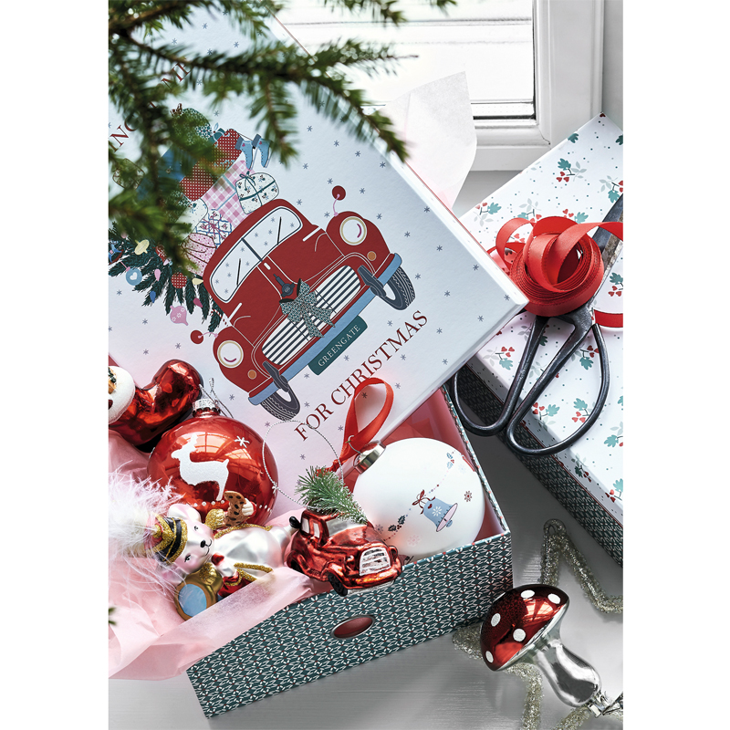 a14135-2x.jpg - Storage box Christmas car, Red set of 2 - Elsashem Butiken med det lilla extra...