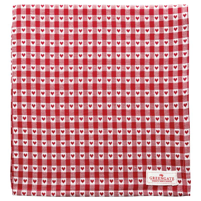 a14137x.jpg - Duk Heart petit, Red 150x150 cm - Elsashem Butiken med det lilla extra...