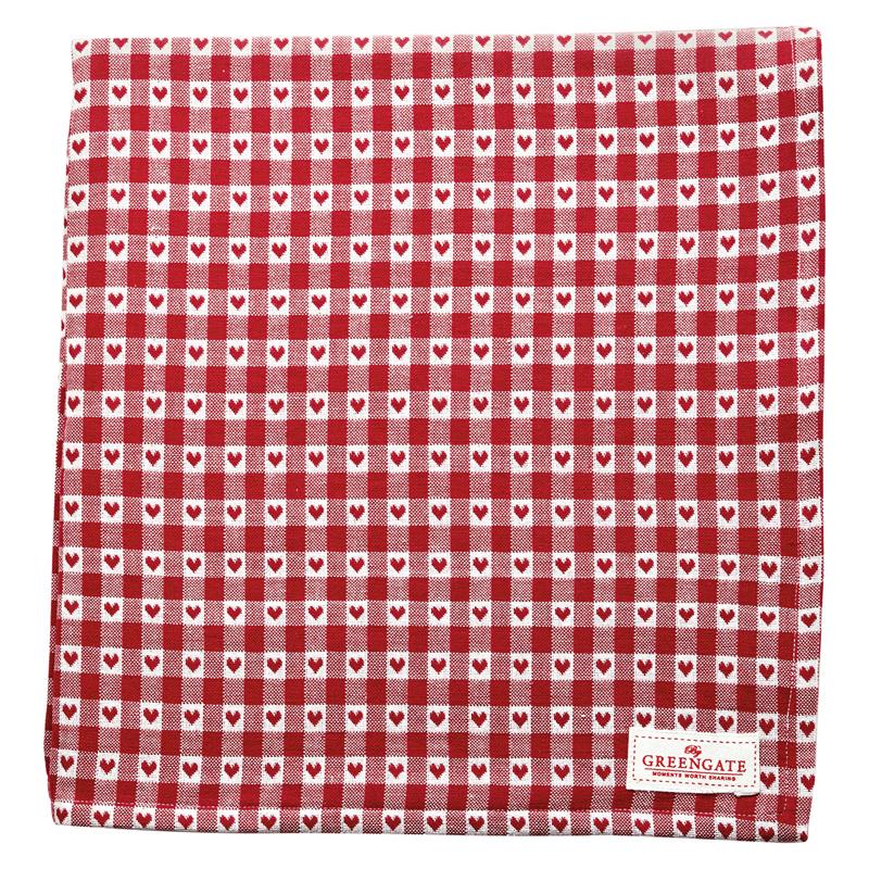 a14138x.jpg - Duk Heart petit, Red 145x250 cm - Elsashem Butiken med det lilla extra...