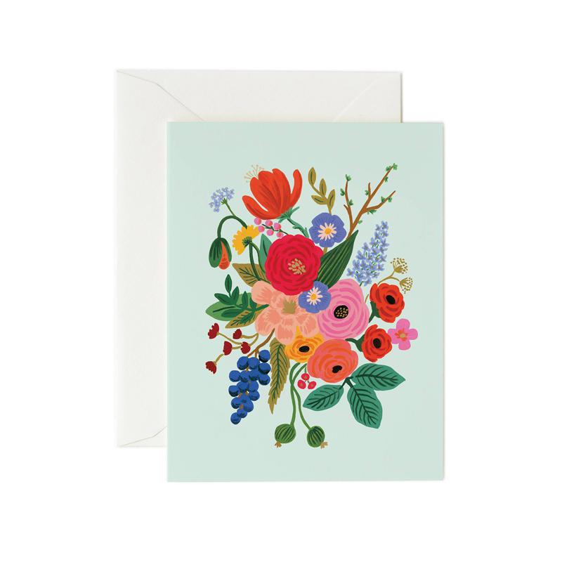 a14181x.jpg - Kort med kuvert, Garden Party Mint - Elsashem Butiken med det lilla extra...