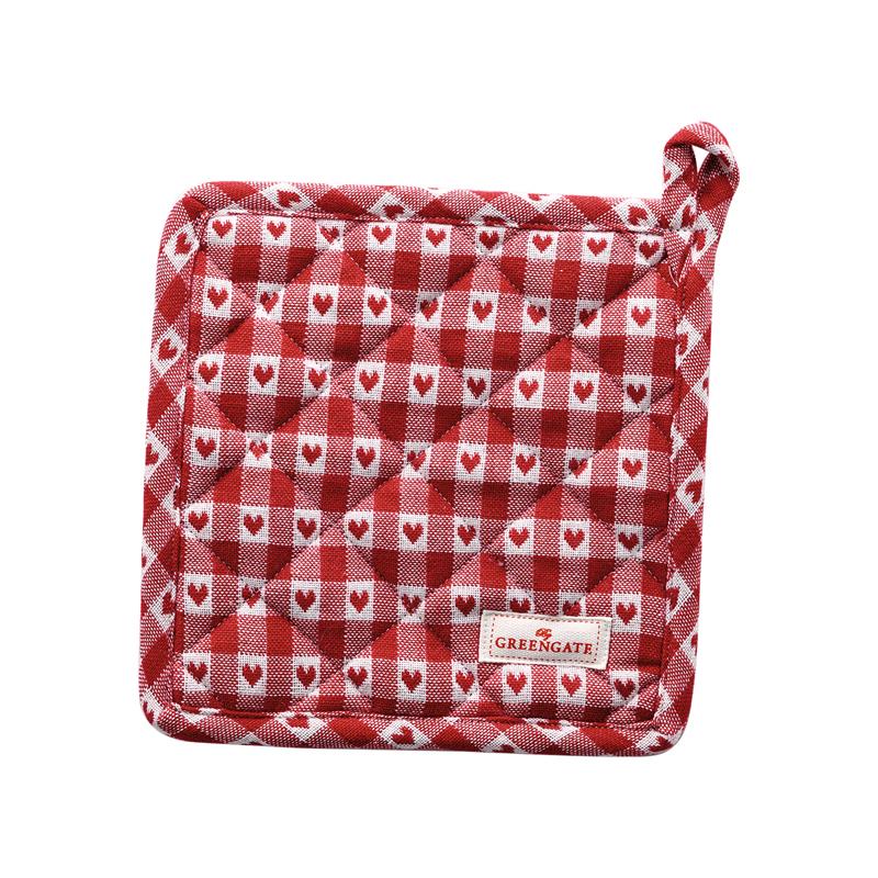 a14184x.jpg - Grytlapp Heart petit, Red set of 2 pcs - Elsashem Butiken med det lilla extra...