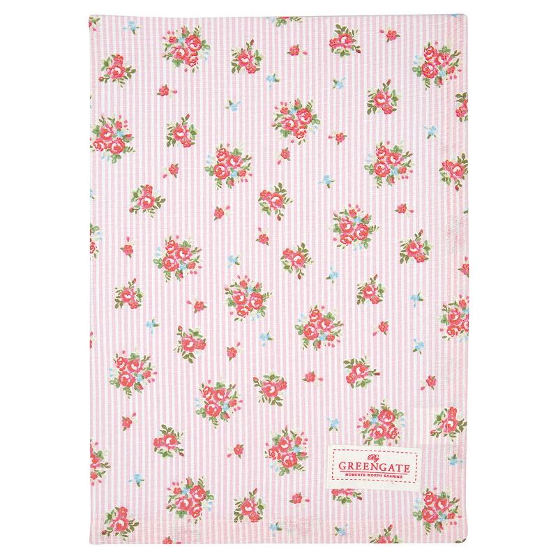 a14260x.jpg - Kökshandduk Abigail stripe, Pale pink - Elsashem Butiken med det lilla extra...