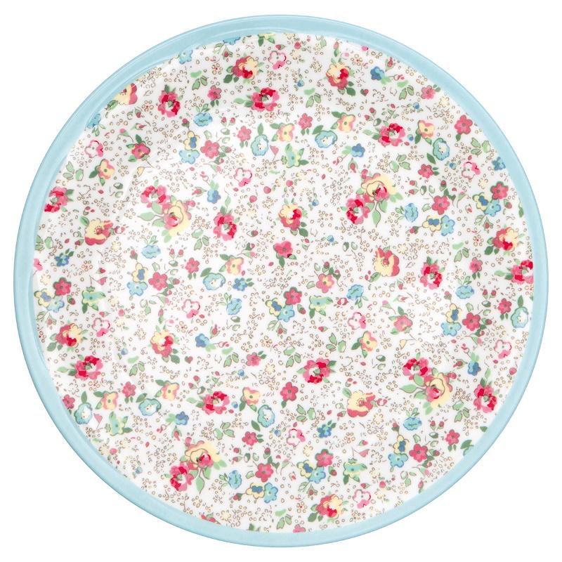 a14283x.jpg - Plate Vivianne, White - Elsashem Butiken med det lilla extra...