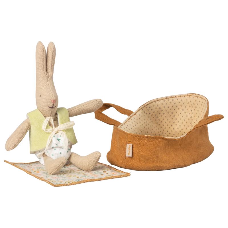 a14439x.jpg - Micro rabbit in carry cot - Elsashem Butiken med det lilla extra...