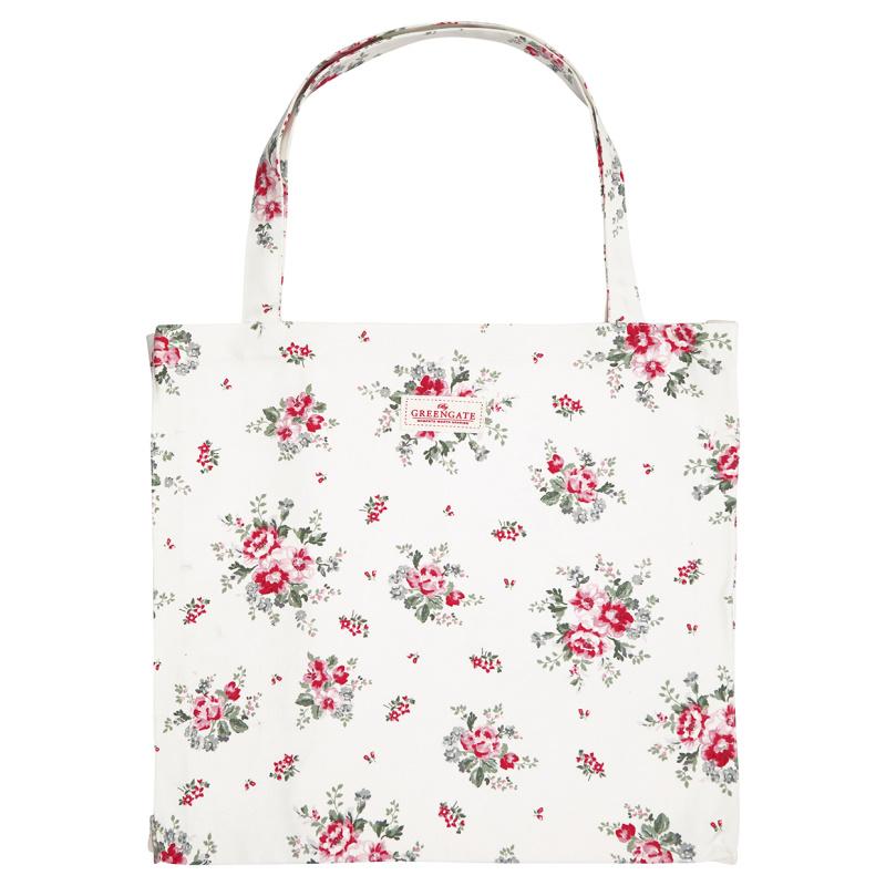 a14507x.jpg - Tote bag Elouise, White - Elsashem Butiken med det lilla extra...